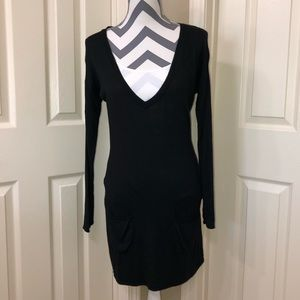 White House Black Market Black Tunic